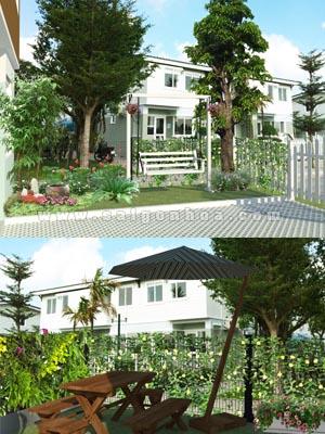 Sân Vườn Biệt Thự Nhà Chị Dung