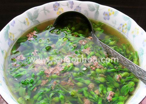 Hoa Thiên Lý Nấu Canh Thịt Bò