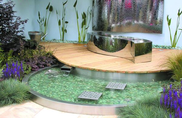 Modern Garden Pond 04