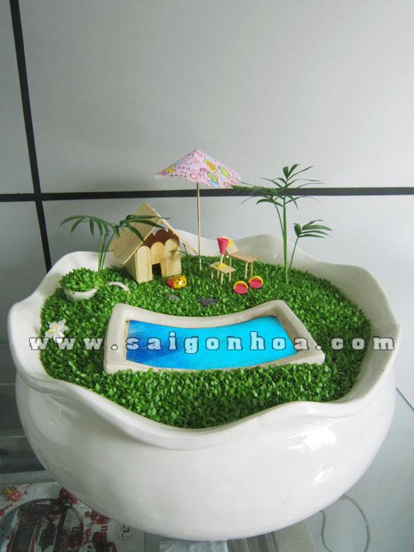 tieu canh may man resort mini