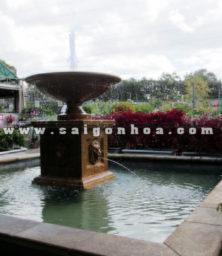 Dai Phun Nuoc Trang Tri Quan Cafe