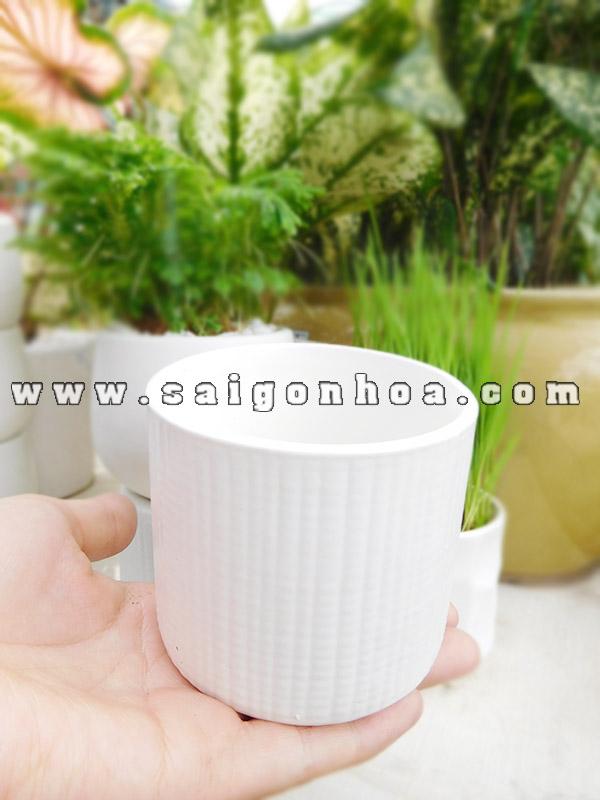 Chau De Ban Mini Gom Su Bat Trang