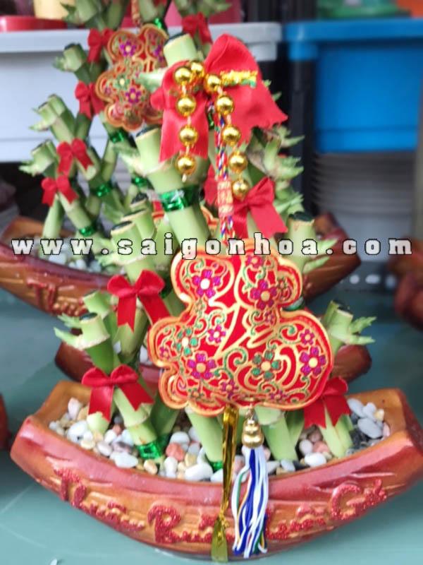 Chau Cay Thuyen Phat Loc Tam Giac Loại 4 Tang