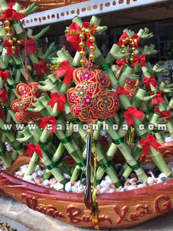 Chau Cay Thuyen Phat Loc Tam Giac Loại 5 Tang