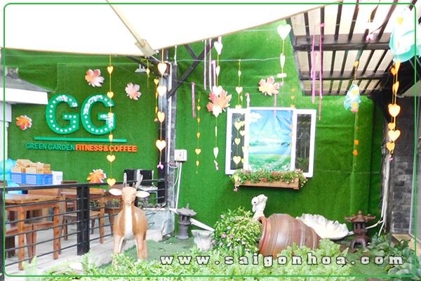Co Nhan Tao Trang Tri Tieu Canh San Vuon