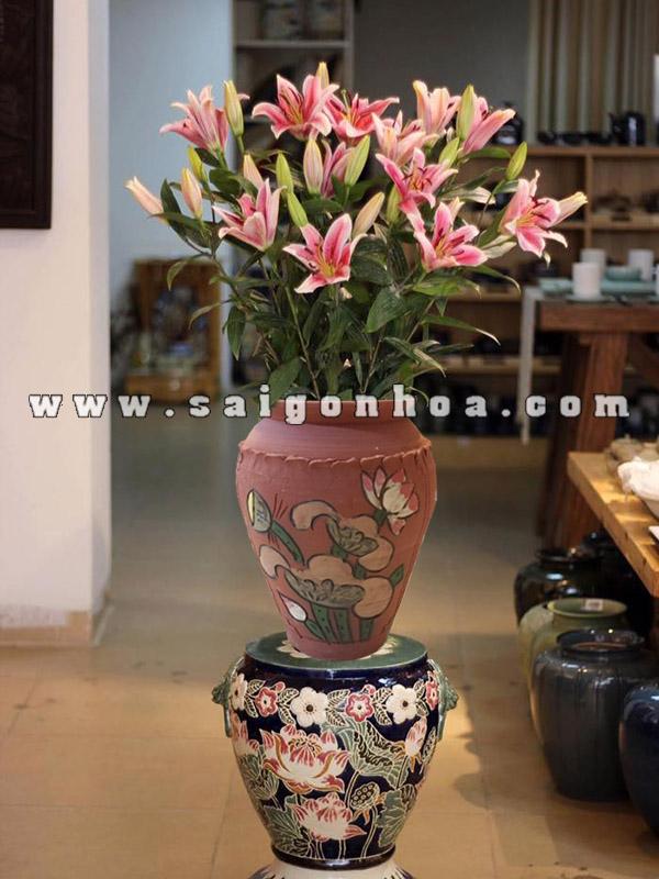 Hinh Cam Hoa Gom Su Bat Trang