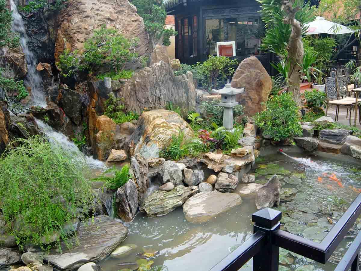 Tieu Canh Ca Phe San Vuon