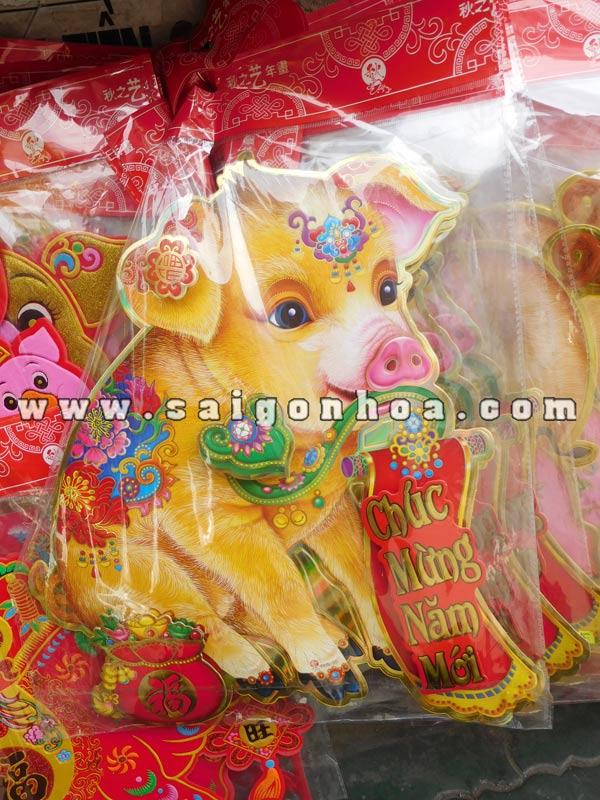Hinh Con Heo Vang Dan Cua