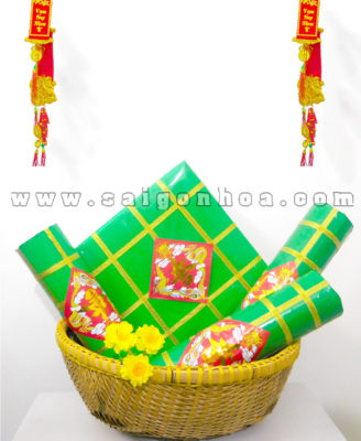 Set Banh Chung Banh Tet Trang Tri