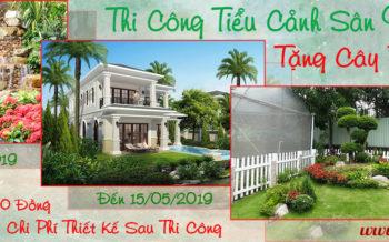 Thi Cong Tieu Canh San Vuon