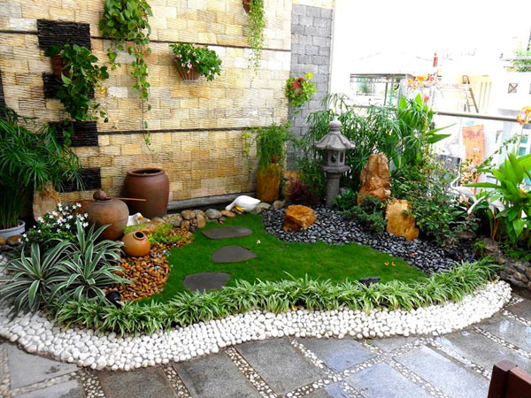 Tiểu cảnh sân vườn trên sân thượng