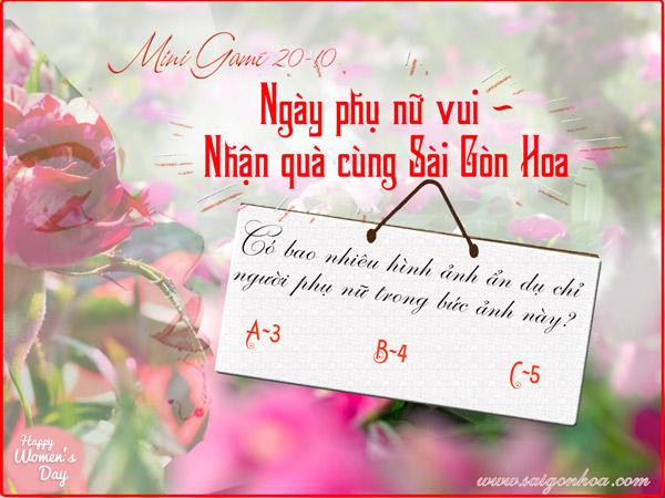 Ngày vui phụ nữ - nhận quà Sài Gòn Hoa