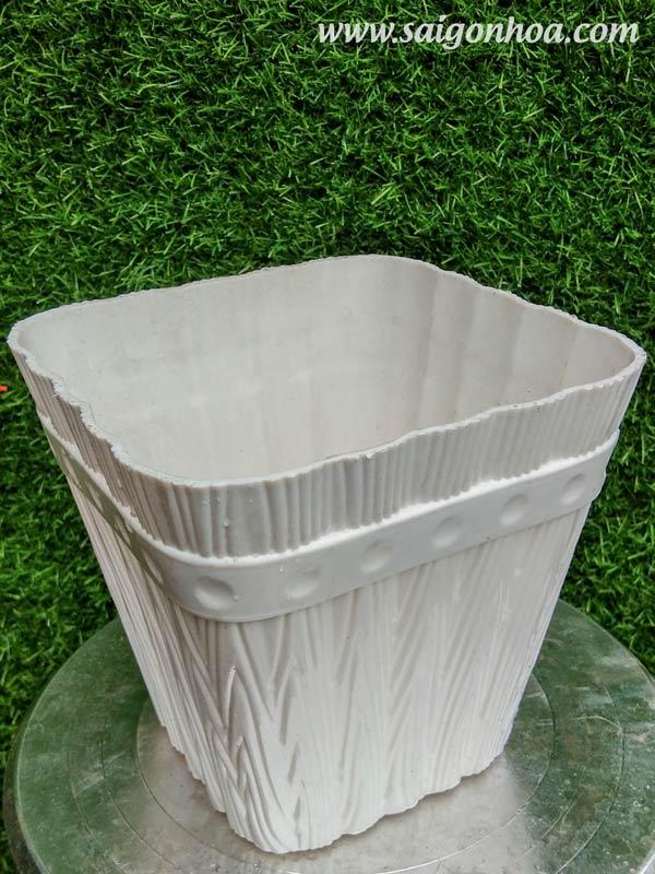 Chậu Nhựa Vuông 15x15