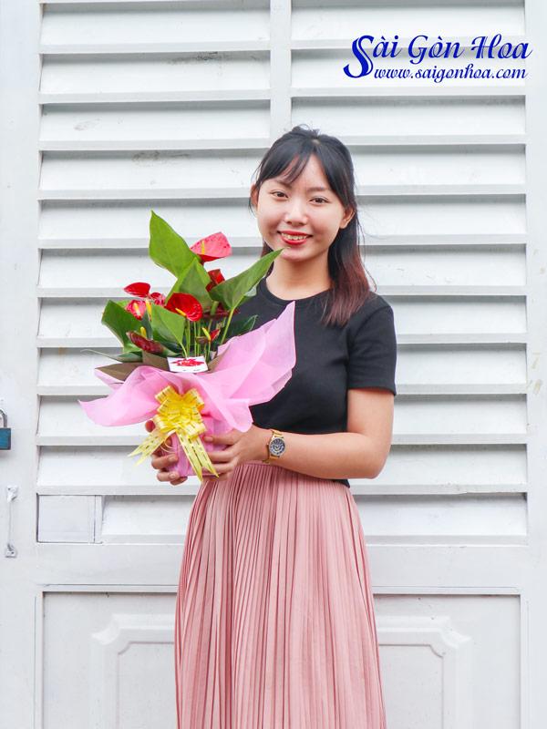 Hoa Hong Mon Qua Tang Ngay Le