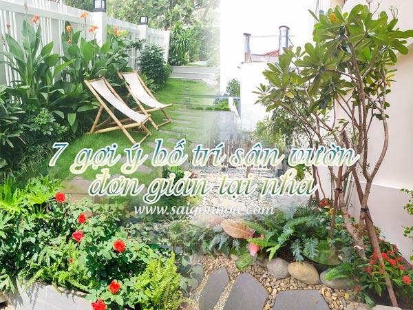 7 Gợi Ý Bố Trí Sân Vườn Đơn Giản Tại Nhà
