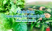 Cach Dung Rau Mong Toi