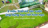 Thiet Ke San Vuon Dang Hinh Hoc