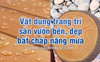 Vat Dung Trang Tri San Vuon